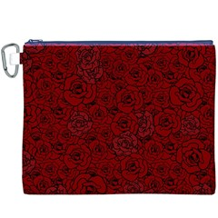 Red Roses Field Canvas Cosmetic Bag (XXXL)