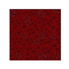 Red Roses Field Small Satin Scarf (square)