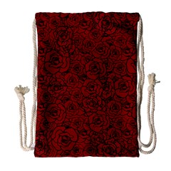 Red Roses Field Drawstring Bag (Large)