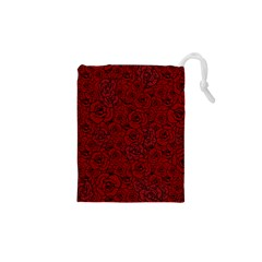 Red Roses Field Drawstring Pouches (XS)
