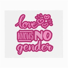 Love knows no gender Small Glasses Cloth