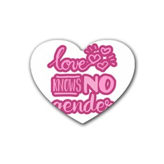 Love knows no gender Heart Coaster (4 pack)