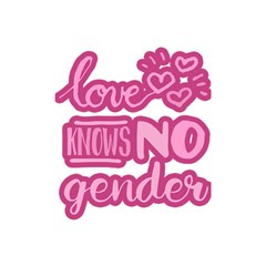 Love knows no gender Shower Curtain 48  x 72  (Small)