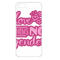Love knows no gender Apple iPhone 5 Seamless Case (White)