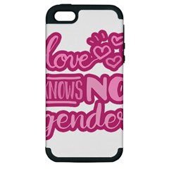 Love knows no gender Apple iPhone 5 Hardshell Case (PC+Silicone)