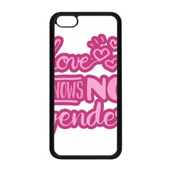 Love knows no gender Apple iPhone 5C Seamless Case (Black)