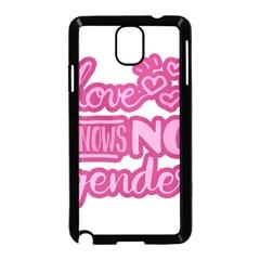 Love knows no gender Samsung Galaxy Note 3 Neo Hardshell Case (Black)
