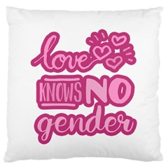 Love knows no gender Standard Flano Cushion Case (Two Sides)