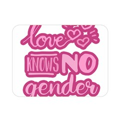 Love knows no gender Double Sided Flano Blanket (Mini)