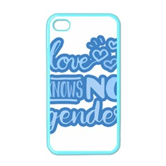 Love knows no gender Apple iPhone 4 Case (Color)