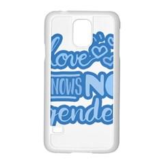 Love knows no gender Samsung Galaxy S5 Case (White)