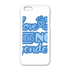 Love Knows No Gender Apple Iphone 6/6s White Enamel Case