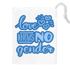 Love knows no gender Drawstring Pouches (XXL)