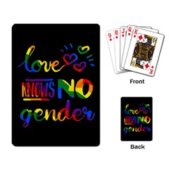 Love knows no gender Playing Card