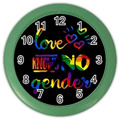 Love knows no gender Color Wall Clocks
