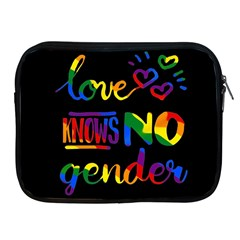 Love knows no gender Apple iPad 2/3/4 Zipper Cases