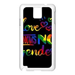 Love knows no gender Samsung Galaxy Note 3 N9005 Case (White)