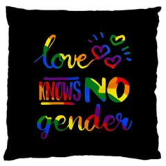 Love knows no gender Large Flano Cushion Case (Two Sides)