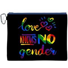 Love knows no gender Canvas Cosmetic Bag (XXXL)