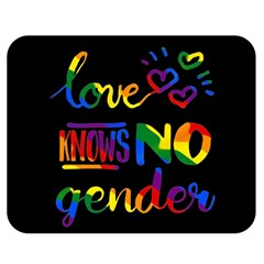 Love knows no gender Double Sided Flano Blanket (Medium)