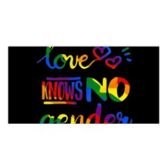 Love knows no gender Satin Shawl