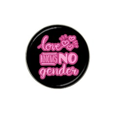 Love knows no gender Hat Clip Ball Marker (4 pack)
