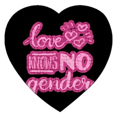 Love knows no gender Jigsaw Puzzle (Heart)