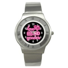 Love knows no gender Stainless Steel Watch