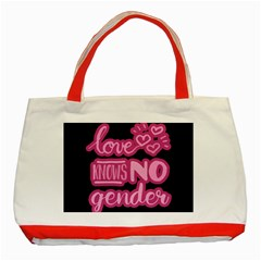 Love knows no gender Classic Tote Bag (Red)