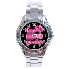 Love knows no gender Stainless Steel Analogue Watch