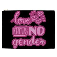 Love knows no gender Cosmetic Bag (XXL)