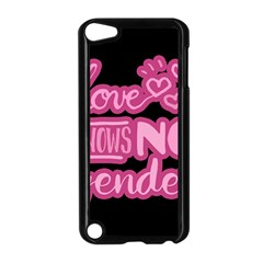 Love knows no gender Apple iPod Touch 5 Case (Black)