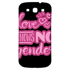 Love knows no gender Samsung Galaxy S3 S III Classic Hardshell Back Case