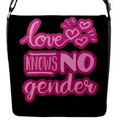 Love knows no gender Flap Messenger Bag (S)