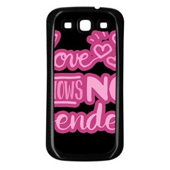 Love knows no gender Samsung Galaxy S3 Back Case (Black)