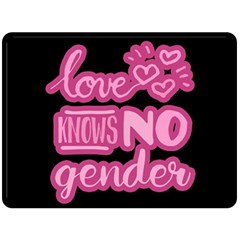 Love knows no gender Double Sided Fleece Blanket (Large)