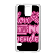 Love knows no gender Samsung Galaxy S5 Case (White)