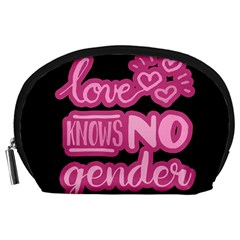 Love knows no gender Accessory Pouches (Large)