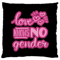 Love knows no gender Standard Flano Cushion Case (One Side)
