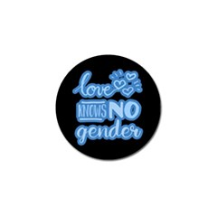 Love knows no gender Golf Ball Marker