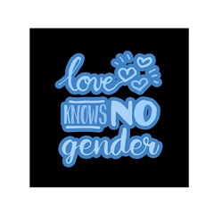 Love knows no gender Small Satin Scarf (Square)