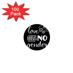 Love knows no gender 1  Mini Buttons (100 pack)