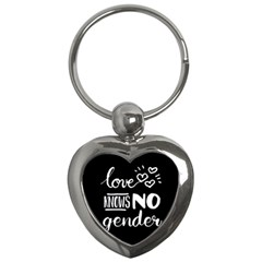 Love knows no gender Key Chains (Heart)