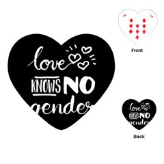 Love knows no gender Playing Cards (Heart)