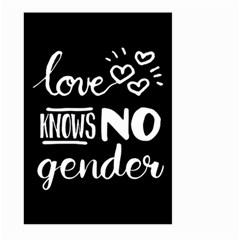 Love knows no gender Large Garden Flag (Two Sides)