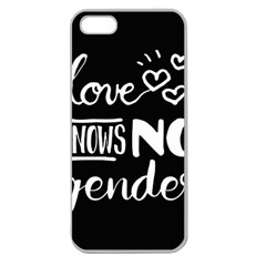 Love knows no gender Apple Seamless iPhone 5 Case (Clear)