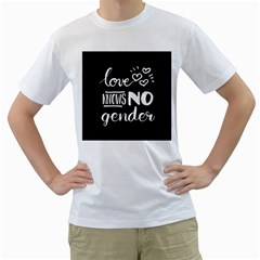Love knows no gender Men s T-Shirt (White)