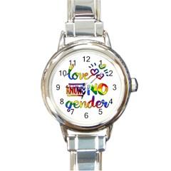 Love knows no gender Round Italian Charm Watch