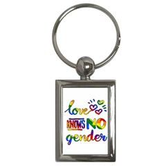 Love knows no gender Key Chains (Rectangle)