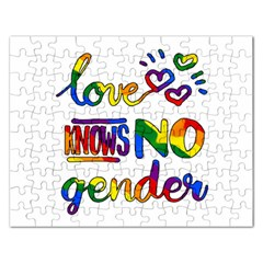 Love knows no gender Rectangular Jigsaw Puzzl